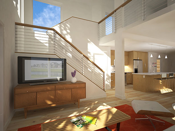 Lofthouse by blu homes for Modular homes with lofts