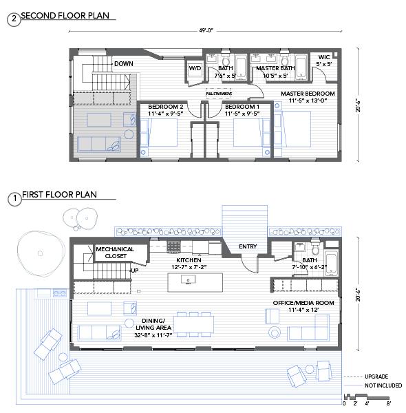 Modern modular home floor plans for 14x40 mobile home floor plans