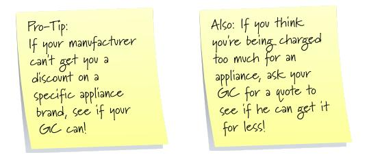 Pro-tip for getting the best appliance deals in a modular home