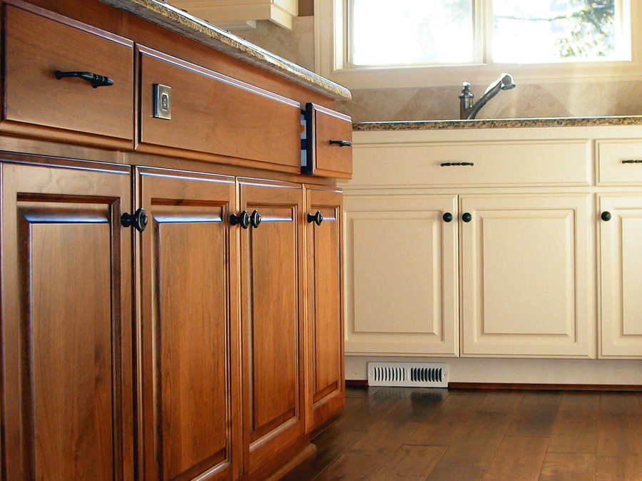 Quality kitchen cabinets in a modular home
