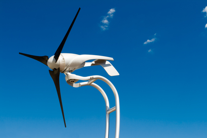 Wind turbine on a modular home