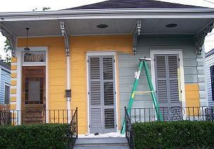 half painted house
