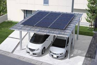 Solar paneled garage